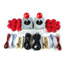 GeeekPi 2 Sets of Arcade Game Machine DIY Parts for JAMMA MAME & RetroPie: Zero Delay USB Encoder+Joysticks+Push Buttons+Cables(China)