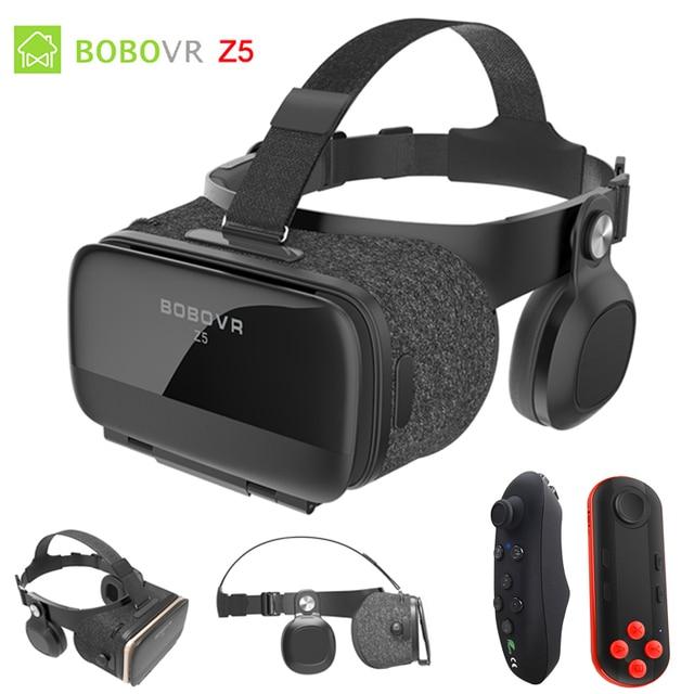 BOBOVR Z5 120 FOV VR Virtual Reality Glasses Remote 3D Android Cardboard VR 3D Headset Stereo Helmet Box for Smartphones 4.7-6.2