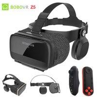 BOBOVR Z5 120 FOV VR Virtual Reality Glasses Remote 3D Android Cardboard VR 3D Headset Stereo Helmet Box for Smartphones 4.7 6.2