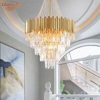 현대 현대 크리스탈 샹들리에 조명 골드 크리스털 샹들리에 라이트 서스펜션 매달려 램프 실내 조명|샹들리에|등 & 조명 -