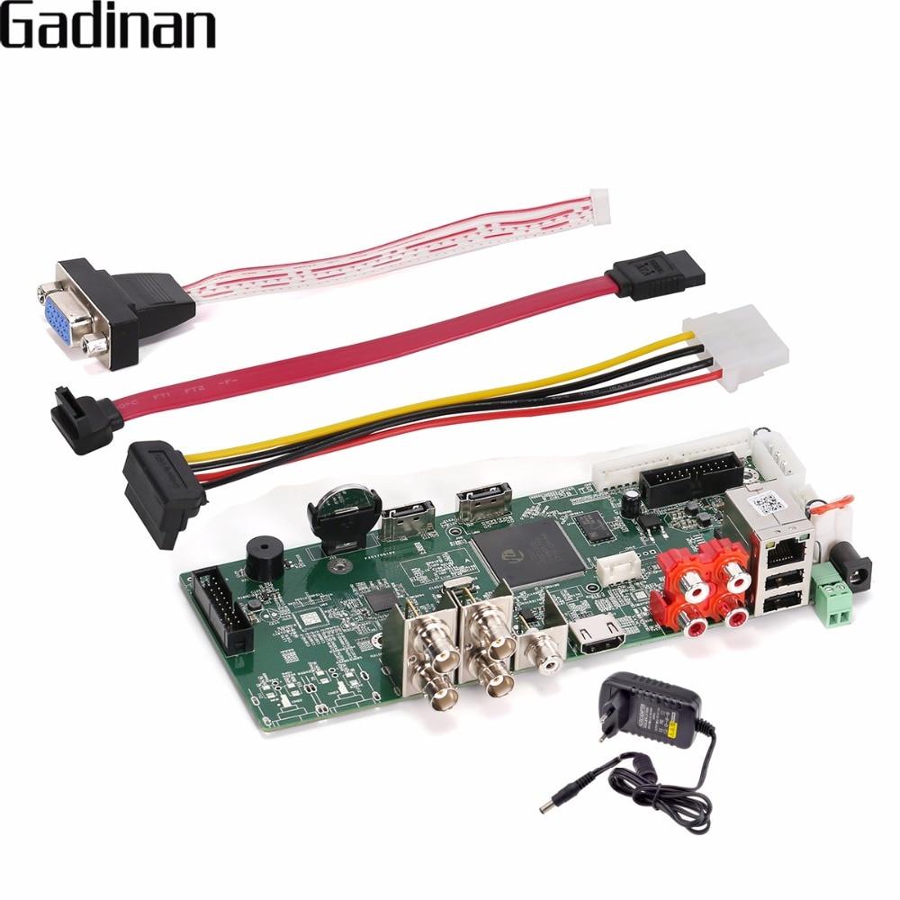 GADINAN Main PCB Security H.264+ AHD 4MP 4CH AHD DVR Recorder Video Recorder 4MP AHD DVR For 3MP / 4MP AHD Camera XMEye ONVIF