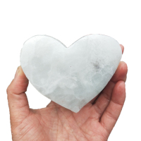 Natural Crystal Heart Quartz Minerals White Fluorite Heart Shape Crystal Chakra Carved Healing Reiki