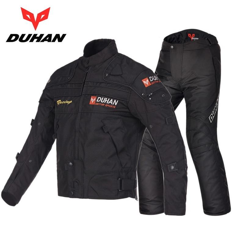 DUHAN moto veste de costume de course pantalon hiver chaud moto rcycle vêtements d'équitation costumes moto rbike vestes pantalons vêtements D-020 et DK-09