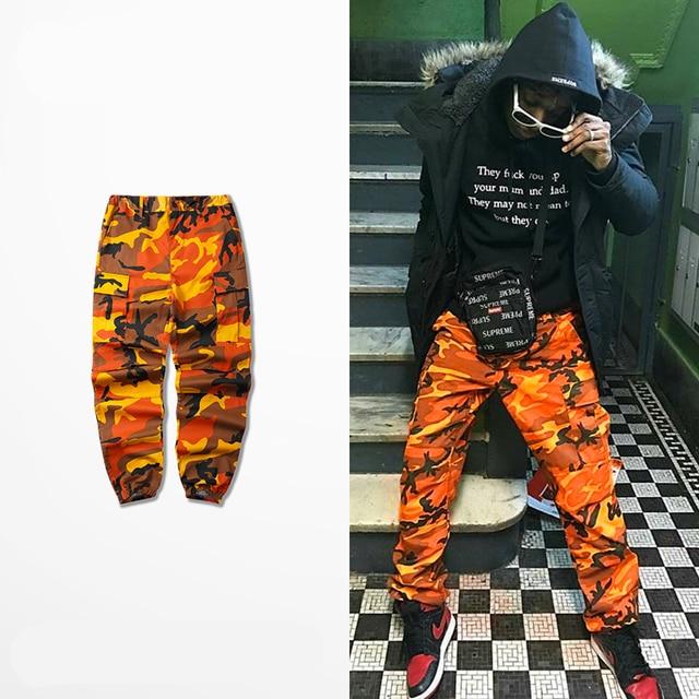 Orange Camouflage Pants Men and Women Sweatpants Purple Pink Gray Camo  Pants Trousers Cargo Pant Streetwear Hip Hop Harem Jogger b27dc99fdce