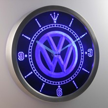nc0171 Volkswagen VW Car Neon Sign LED Wall Clock