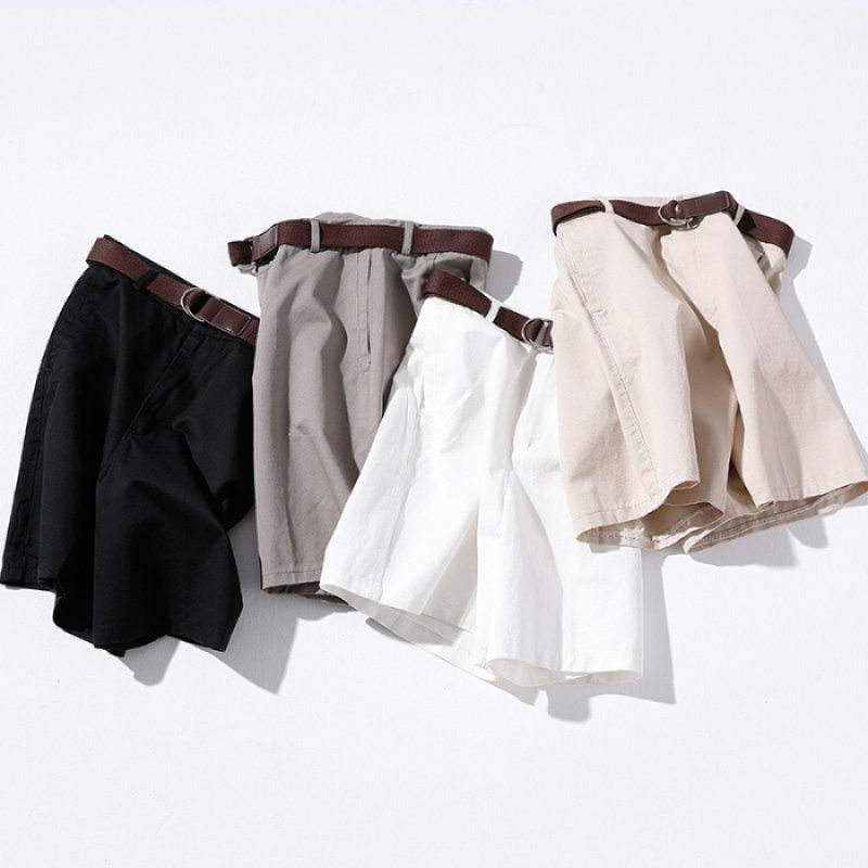 Casual Summer Shorts Women Loose White Black Wide Leg Women Shorts With Belt Short Mujer Trousers Women High Waist Shorts C5605