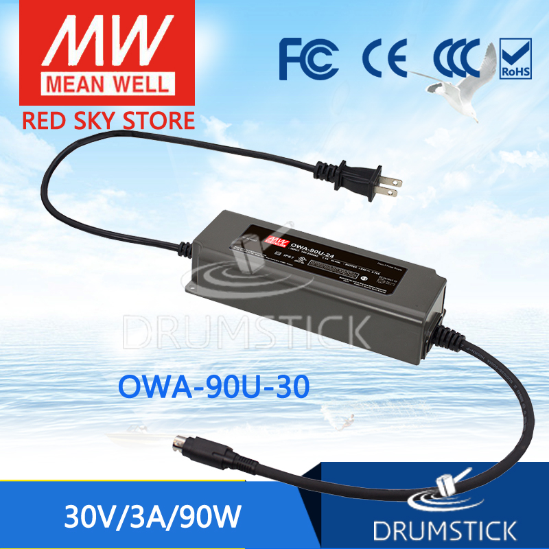 цена на MEAN WELL OWA-90U-30 30V 3A meanwell OWA-90U 30V 90W Single Output Moistureproof Adaptor with lock type