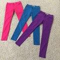Clásico Mostrar Thin Fall 2016 Nuevo Color Puro Algodón Denim Jeans Pantalones Mujer Delgada
