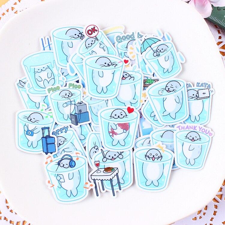 40pcs Creative Kawaii Self-made Cup Seal Stickers/ Beautiful Stickers /Decorative Sticker /DIY Craft Photo Albums