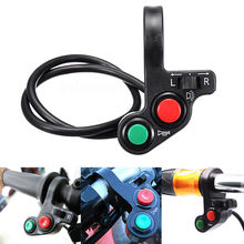 BJGLOBAL DC12V 7/8 Universal Motorcycle Handlebar Switch Engine Electric Start Horn Light Push Button 7 Pin Connection