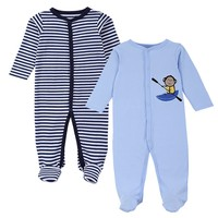 New Brand Spring Summer Baby Rompers Pajamas Boys Girl Clothes Cute Monkey Newborn Jumpsuits Infant Clothing