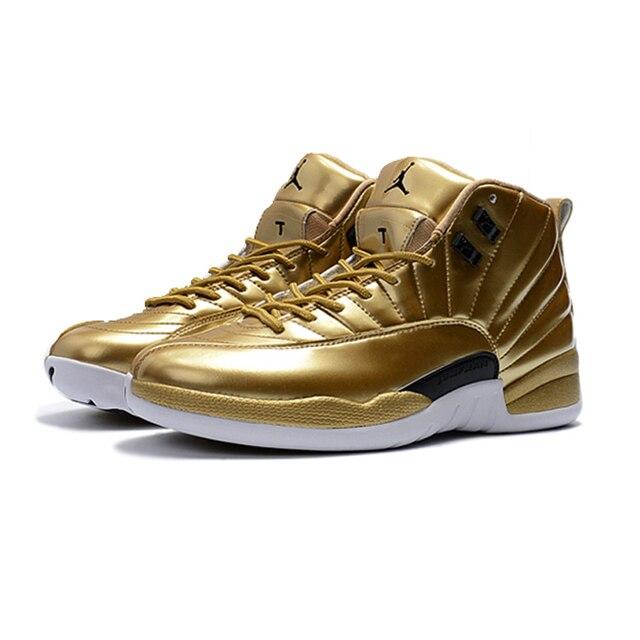 9e8d78d78ec High Quality Jordan 12 PSNY Purple Green Blue Men Basketball Shoes Metallic  Gold Brown Wheat Multi-color Sport Shoes Hot Sale
