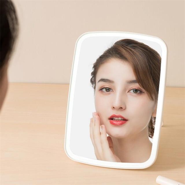 Original xiaomi Mijia Intelligent portable makeup mirror desktop led light portable folding light mirror dormitory desktop 2