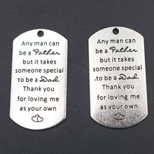 2pcs any man can be a father but it takes someone special to be a Dad thank you for loveing me as your own charm alloy pendants a tribe called quest a tribe called quest we got it from here thank you 4 your service 2 lp