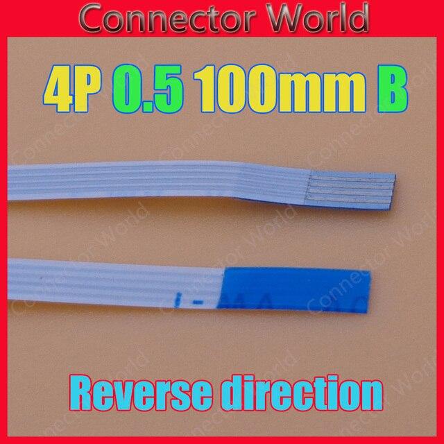 2 יח'\חבילה 4 פין שטוח מתג סרט 4 p להגמיש כבל חשמל כפתור 4pin 0.5mm הפוך אורך 10 cm AWM 20624 80C 60 V VW-1