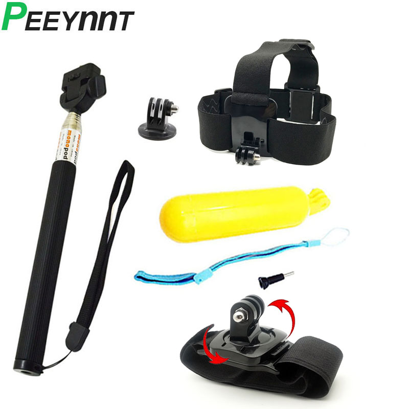 Peeynnt Accessories For Gopro Hero 8 For Go Pro 7 6 5 4s Set Tripod Monopod For Xiaomi Yi 4K SJCAM SJ4000 EKEN H9 H9R SJ5000 SJ7
