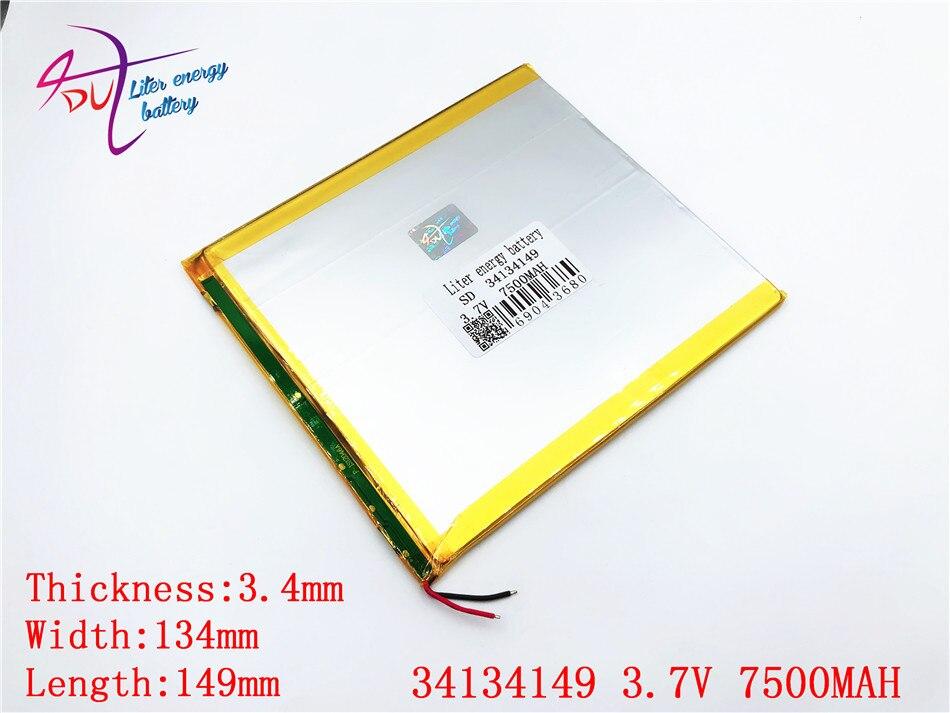 Stromquelle Logisch 34134149 3,7 V 7500 Mah 35135150 Plib; Polymer Lithium-ion/li-ion Batterie Für 9-10,1 Zoll Große Allgemeine-zweck Tablet Computer