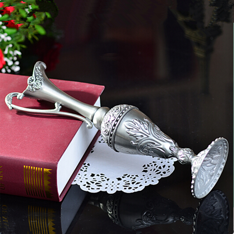 Selling Pewter Plated Metal Flower Vase 1