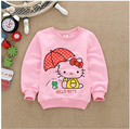 Spring brand girls sweatshirt Cotton Kawaii Fashion children cartoon cat Tracksuit long t shirts kids tops hoodies