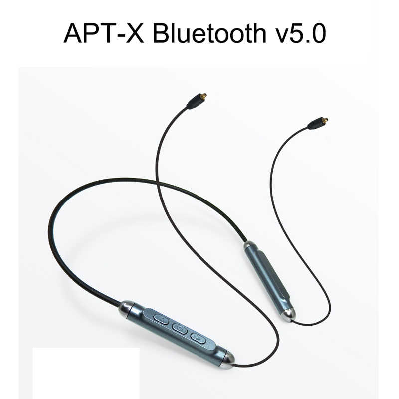 MMCX apt-x Bluetooth v5.0 Adapter kabel do Shure SE215 SE535 SE846 UE900 słuchawki wymiana Aptx kable do iPhone'a z systemem Android