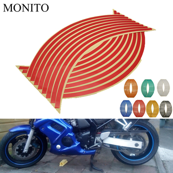 Motorcycle Wheel Sticker Reflective Decals Rim Tape Strip For HONDA CRF230F XR230 XR250 XR400 CRF 230F XR 250 230 Accessories image
