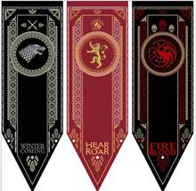 Game Of Thrones Banner Flagge Stark & Tully & Targaryen & Lannister winter ist kommende feuer blut hören mich roar flagge(China)