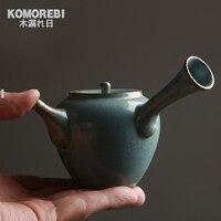 Handmade Chinese Tea Set Zen Japanese Simplicity Teapot Pottery Tea Utensils Teapots Large Capacity Kettle Pacifier