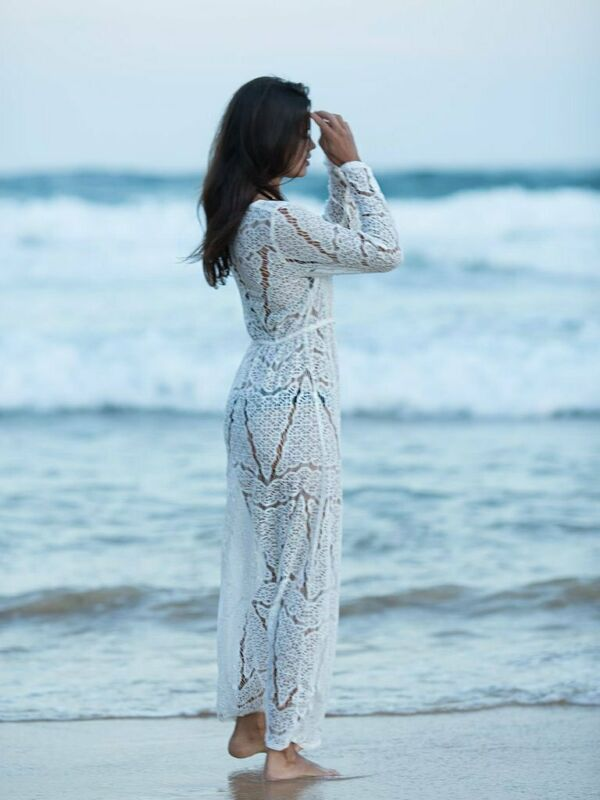 Women Summer Hollow Out Floral Loose Shawl Vintage Kimono Cardigan Boho Chiffon Coat Jacket Cardigan Blouse Shirts Plus Size