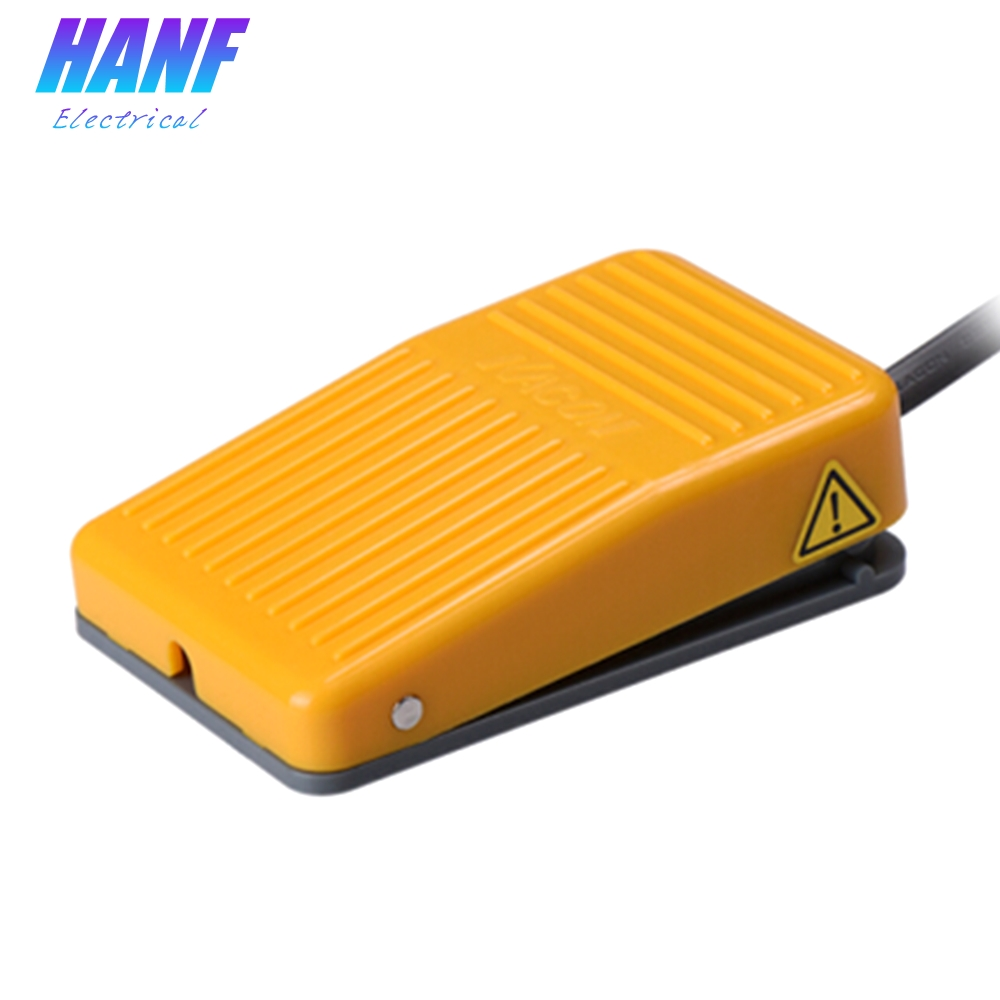 1pcs High Quality Yellow Plastic Foot Pedal Switch with 200cm Electric Wire Momentary 1NO   8A/220VAC