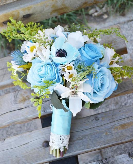 Handgemachte Neue Hochzeit Brautjungfer Bouquet Braut Blume Hochzeit