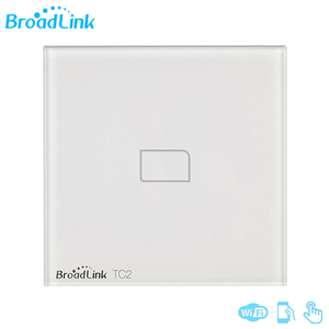 Image 1 - Broadlink TC2 1/2/3 כנופיה האיחוד האירופי סטנדרטי 2019New אור מתג מודרני עיצוב לבן לוח מגע Wifi אלחוטי חכם שליטה באמצעות RM פרו