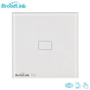 Image 1 - Broadlink TC2 1/2/3 Gang EU Standard Новый выключатель света современный дизайн белая сенсорная панель Wifi беспроводное умное управление через RM Pro
