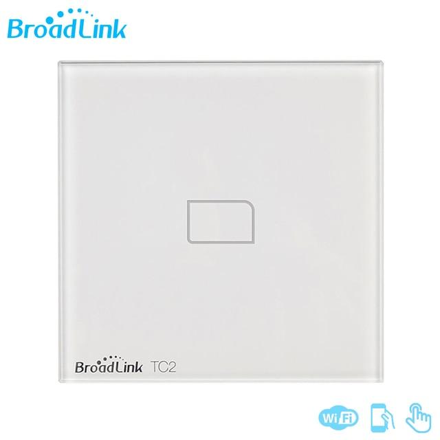 Broadlink TC2 1/2/3 Gang EU Standard Новый выключатель света современный дизайн белая сенсорная панель Wifi беспроводное умное управление через RM Pro