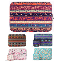 Mosiso Fashion Zipper Bohemian Style 13 Inch Canvas Sleeve Case Cover Protect Bag For Macbook Air