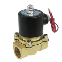 12V 3/4 Brass Electric Solenoid Valve 110 VAC Normally Closed for water air diesel oil