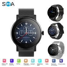 SMAWATCH Smart Watch IPS Waterproof Bluetooth Heart Rate Blood Pressure Multi Sport Mode Men Smartwatch for Android iOS pk k88h