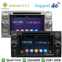 3G/4G WIFI Quad Core 1024*600 Android 5.1.1 Car DVD Player Radio Stereo GPS FM For Ford Focus Kuga Mondeo Connect Transit Fiesta