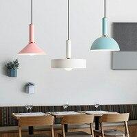 Simple Nordic Restaurant Pendant Light Cafe Lamp Danish Designer Postmodern Lamp Macaroons Multicolor Clothing Store Lamp