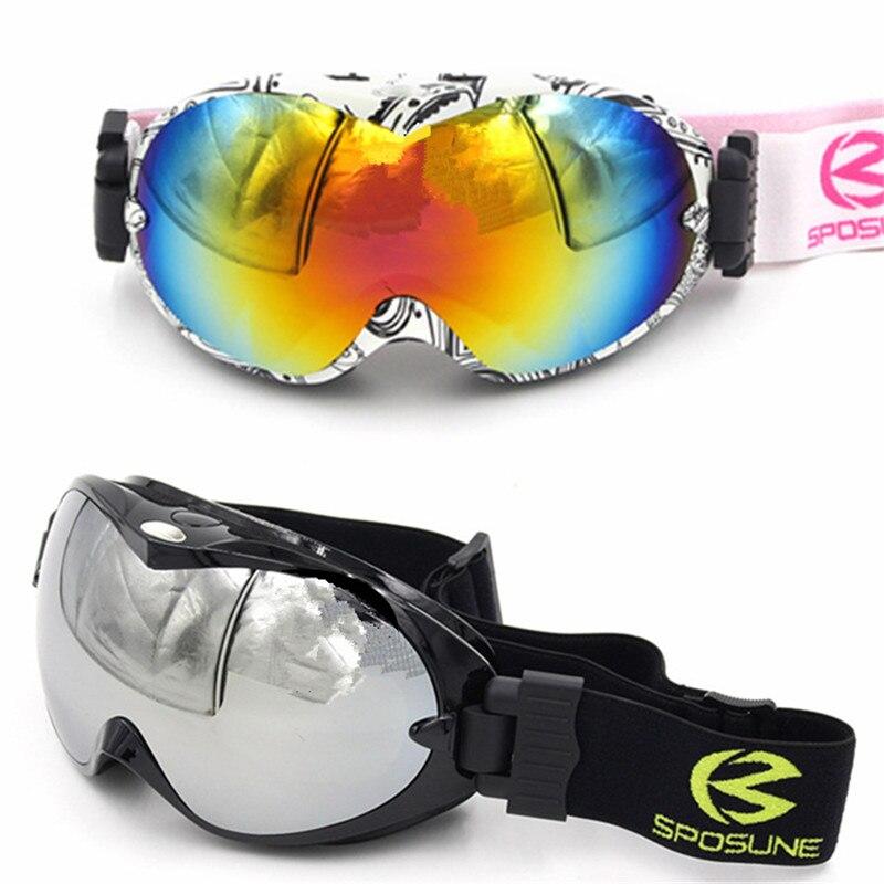 Prix pour Double Lentille Ski Lunettes pour Enfants Garçons Filles Anti Brouillard Des Lunettes De Ski Ski Googles Hiver Neige Lunettes skibril Snowboard Lunettes