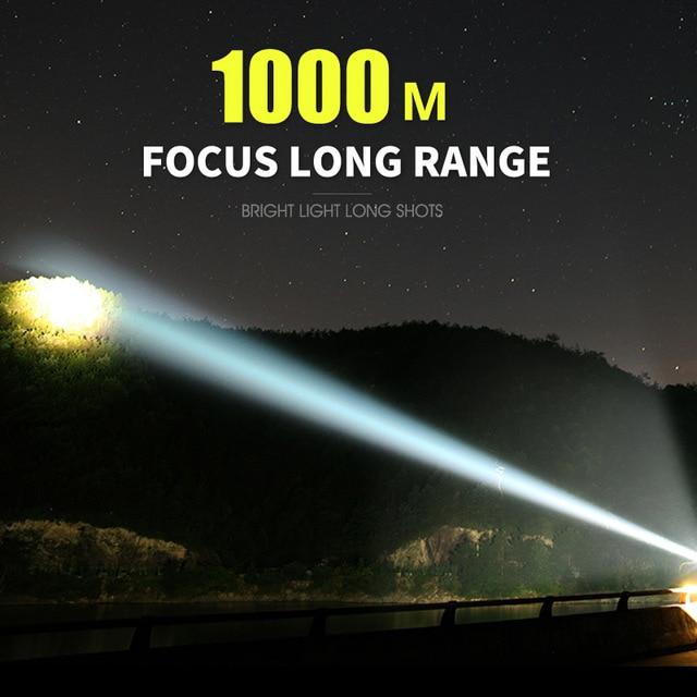 Super Powerful LED Flashlight L2 XHP50 Tactical Torch USB Rechargeable Linterna Waterproof Lamp Ultra Bright Lantern Camping 4