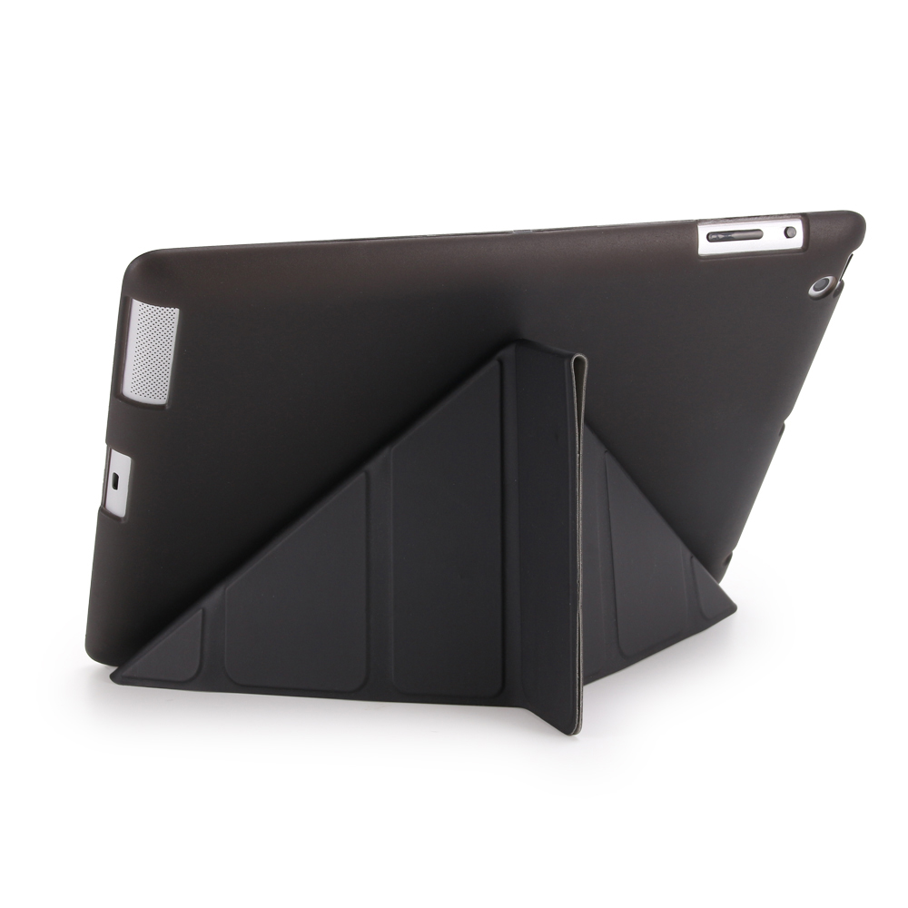 Case For Ipad 2 3 4 Ultra Slim PU Leather Covers Multi Folding Magnetic Cover Translucent TPU Back Smart Case For Ipad 2 3 4 Hot