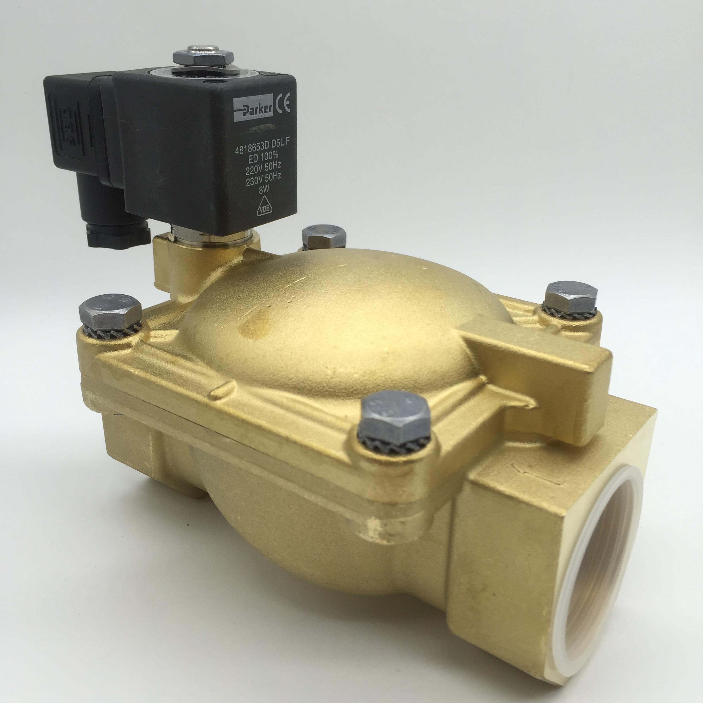 US parker solenoid valve 7321BFN00 DC24V AC220V two two-way valve with coil 481865C2 4818653D 481865A5 1pcs skm5 automobile valve coil electrical solenoid valve coil dc24v voltage lead type valve coil sanmin