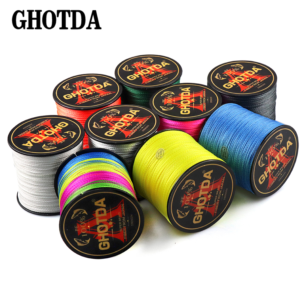 GHOTDA 300M Brand Japan Multifilament PE 100% PE Braided Fishing Line 10 12 18 28 35 40 50 60 80 100 120LB