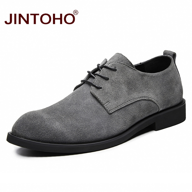 JINTOHO Shoes Suede Big-Size Casual Brand Fashion Male for Men Cow Flats