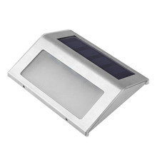 Stainless Steel LED Solar Lights Outdoor Waterproof Garden P