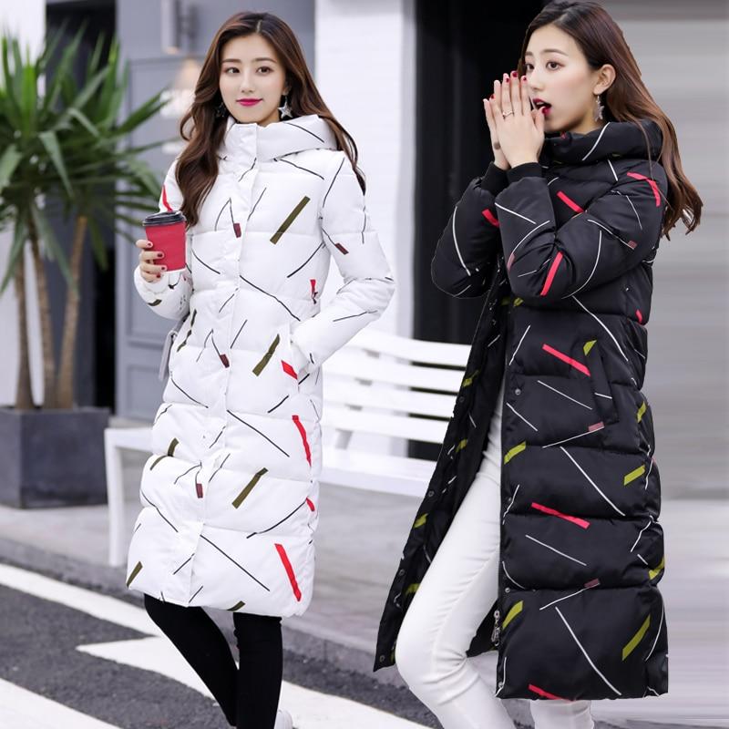 Invierno Prendas Ns4010 Black Caliente Vestir Delgada Exteriores 3xl Medio Engrosamiento 2018 Cotton Hoodie Abajo white Chaqueta Largo De Ropa HxR55z