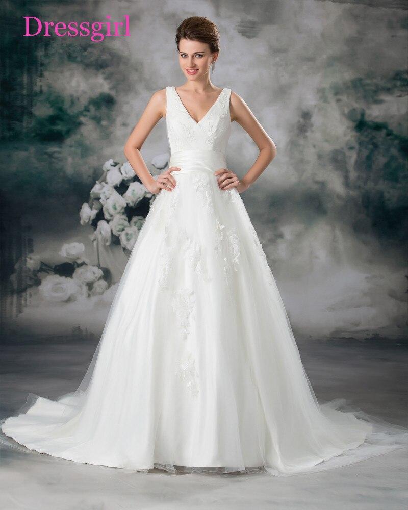 Sem costas Vestido De Noiva Vestidos de Casamento 2017 A Linha de Profundo Decote Em V Tule Apliques Rendas Peru Boho Do Vestido de Casamento Vestidos de Noiva
