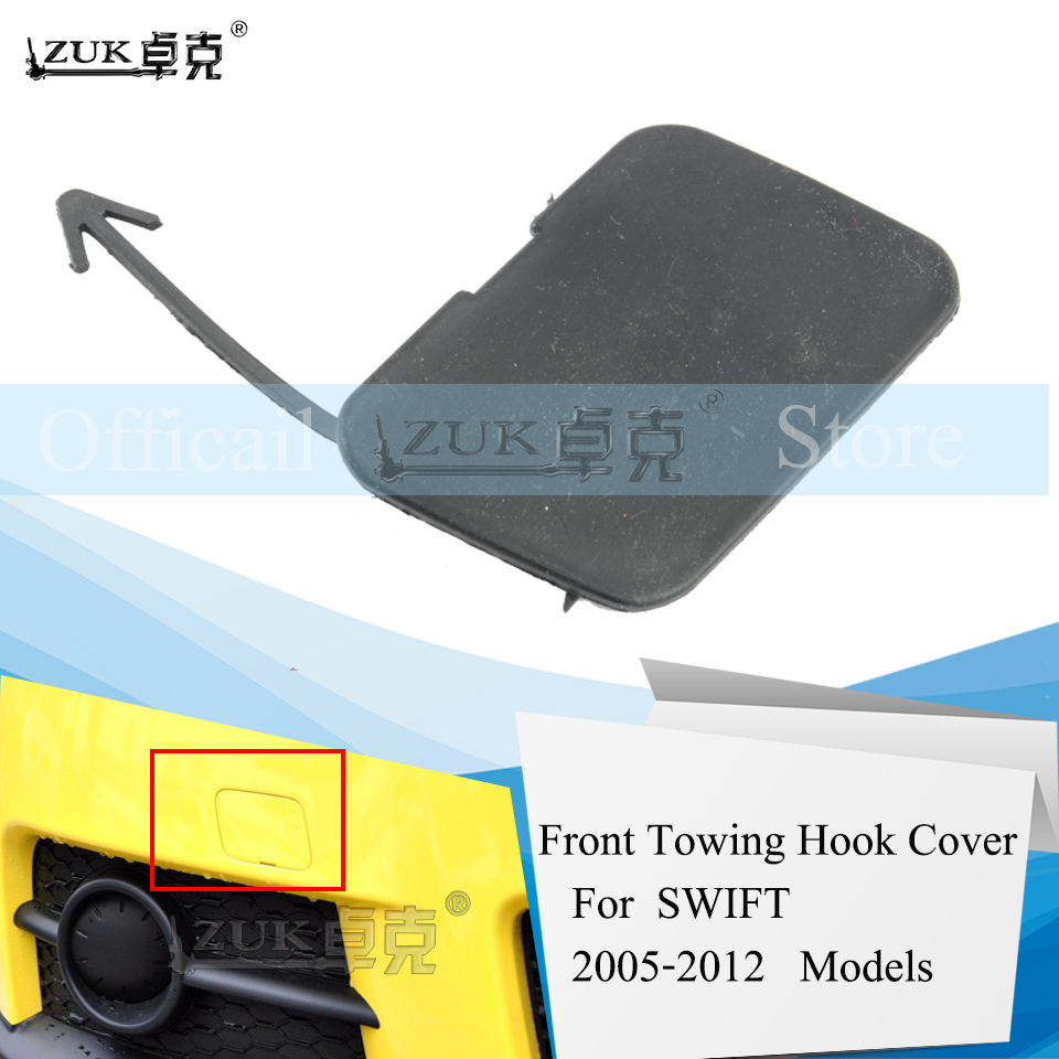 ZUK Front Bumper Towing Hook Cover Hauling Hook Cap Case Lid For SUZUKI Swift 2005 2006 2007 2008 2009 2010 2011 2012 Base Color