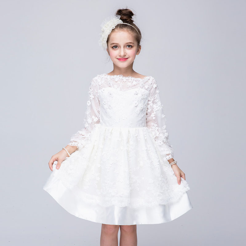Flower Girl Dress Summer 2-10 Years Floral Girls Dresses Vestidos Lace Evening Wedding Party Children Clothes Birthday Clothing