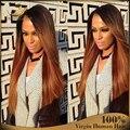 New Fashion Ombre Lace Wigs Brazilian Virgin Hair Ombre Full Lace Wigs Human Hair Lace Front Wigs For Black Women